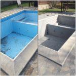 Премахване на стара боя от басейн
