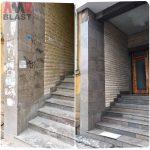 Премахване на графити от каменни повърхности